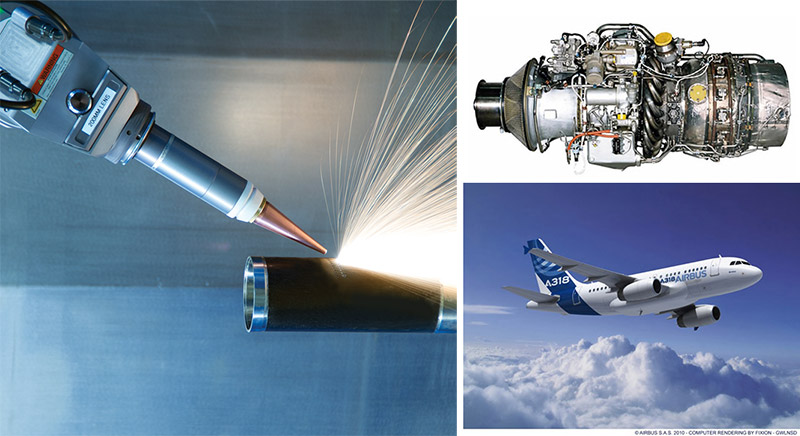 LASERDYNE 430BD laser system equipped with a fiber laser and a rotary table will be processing components for aerospace engines like the PW 100 engines used in many commercial aircraft such as the Airbus A318 The system is capable of cutting, drilling and welding and has distinct advantages over older systems as described in this article.