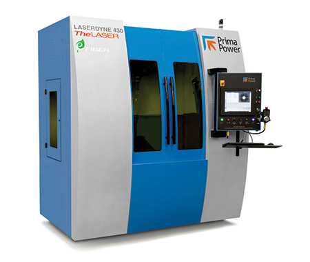 LASERDYNE 430BD laser system designed for processing 3D aerospace components with a fiber laser.