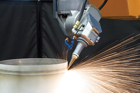 High speed drilling on the fly of turbine engine components using LASERDYNE exclusive OFC (Optical Focus Control), BTD (Breakthrough Detection) and CylPerf programming at shallow and compound angles. A system equipped with these features meets every challenge for producing cooling holes in today's increasingly complex aerospace engines.