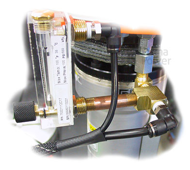 Flow meter and gas piping for SmartShield™ retrofit kit