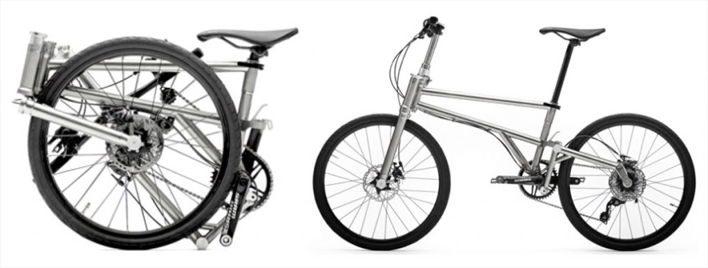 Helix foldable bicycle configurations